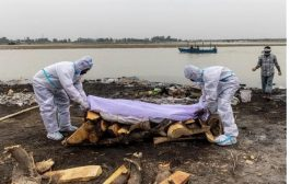 Dozens of suspected COVID victims found in India's Ganges
