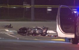 A motorcyclist dead after a collision in Brampton Thursday night.