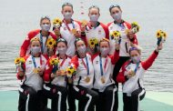 Canada won gold medal in women's eight rowing competition at the Tokyo Olympics