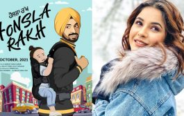 Why did the shooting of Diljit Dosanjh and Shahnaz Gill's film 'Honsla Rakh' stop?